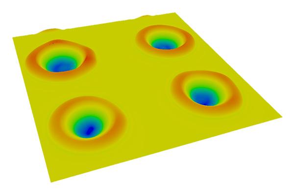 Laser Strukturen eines GaAs-Wafer gemessen mit Confovis