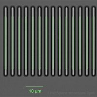 Wafer inspection: line/space structures < 1µ
